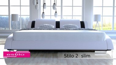Łóżko do sypialni Stilo-2 Slim 200x200 - tkanina