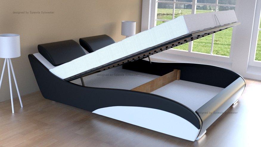 łóżko do sypialni z pojemnikiem