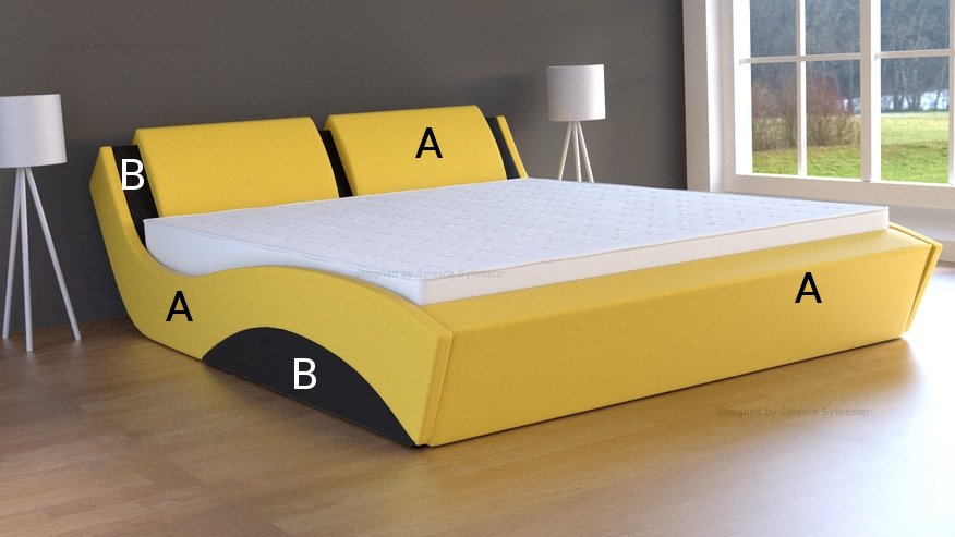 łóżka ze skrzynią na pościel