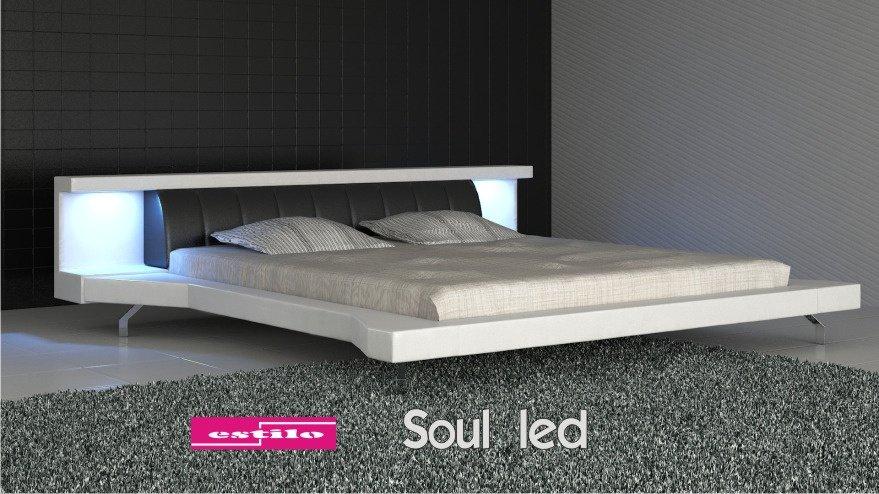 ko tapicerowane soul led 140x200 estilo ka do sypialni. Black Bedroom Furniture Sets. Home Design Ideas